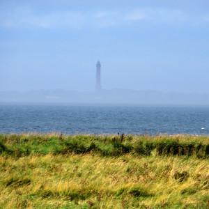 Blick vom Deich nach Norderney