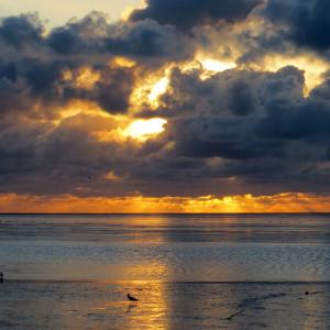 Stimmungsvoller Sonnenuntergang an der Nordsee